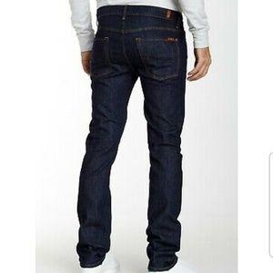 7 For All Mankind Rhigby Slim Straight Jeans 32 X